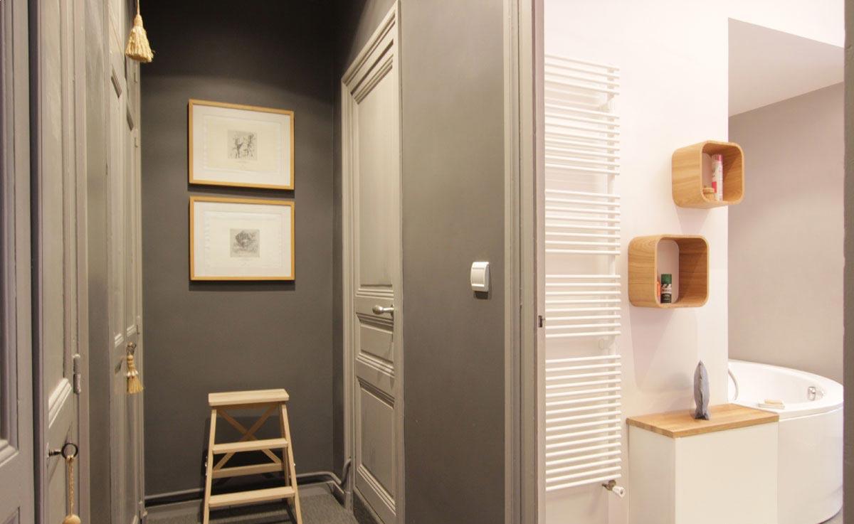 loft nantes couloir ma tre en couleur. Black Bedroom Furniture Sets. Home Design Ideas